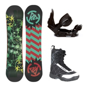 K2 Mini Turbo Stealth Militia Kids Complete Snowboard Package 2013, 120cm, medium