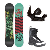 K2 Mini Turbo Stealth Militia Kids Complete Snowboard Package 2013, 130cm, medium