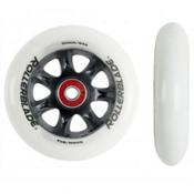 Rollerblade Wheel Kit 100mm/84A HTO Inline Skate Wheels with HTO Bearings - 8 Pack 2015, , medium