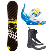 SLQ Black Rainbow Kids Complete Snowboard Package 2013, , medium