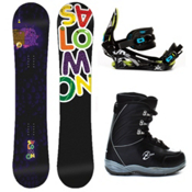 Salomon Mini Drift Rocker Kids Complete Snowboard Package 2013, , medium