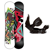 Ride Lowride Kids Snowboard and Binding Package 2013, , medium