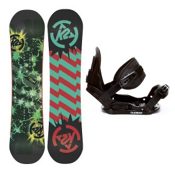 K2 Mini Turbo Kids Snowboard and Binding Package 2013, 100cm, medium