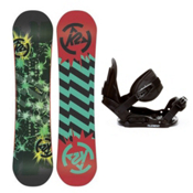 K2 Mini Turbo Kids Snowboard and Binding Package 2013, 110cm, medium