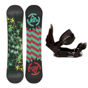 K2 Mini Turbo Kids Snowboard and Binding Package 2013, 120cm, medium