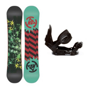 K2 Mini Turbo Kids Snowboard and Binding Package 2013, 130cm, medium