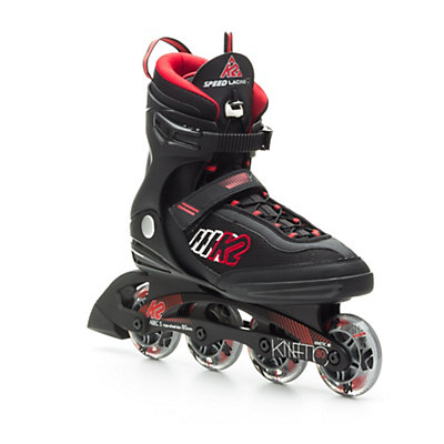 K2 Kinetic 80 Inline Skates, Black-Red-Silver, viewer