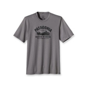 Patagonia Polarized T-Shirt, Heritage Block-Heather Grey, medium