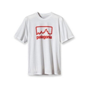 Patagonia Polarized T-Shirt, Outline Logo White, medium