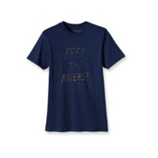 Patagonia Free The Rivers T-Shirt, Classic Navy, medium