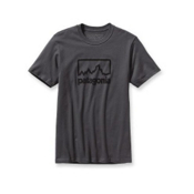 Patagonia Outline Logo T-Shirt, Forge Grey, medium