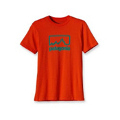 Patagonia Outline Logo T-Shirt, Paintbrush Red, medium