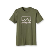 Patagonia Outline Logo T-Shirt, Spanish Moss, medium