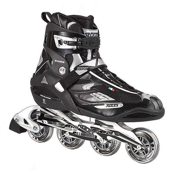 Roces S 255 Inline Skates, Black-Silver, 600