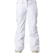 Roxy Golden Track Insulated Womens Snowboard Pants, White, medium