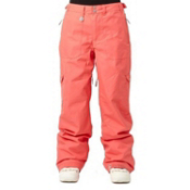 Roxy Golden Track Insulated Womens Snowboard Pants, Blush, medium