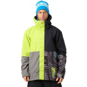 Quiksilver Quarter Mens Insulated Snowboard Jacket, Lime, medium