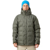 Quiksilver Caiman Down Mens Insulated Snowboard Jacket, Army Green, medium