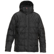 Quiksilver Caiman Down Mens Insulated Snowboard Jacket, Black, medium