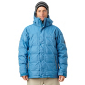 Quiksilver Caiman Down Mens Insulated Snowboard Jacket, Blue Stone, medium