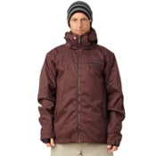 Quiksilver Player Mens Insulated Snowboard Jacket, Burgundy, medium
