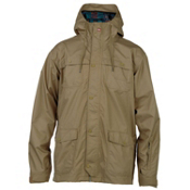 Quiksilver Rocks Mens Shell Snowboard Jacket, Khaki, medium
