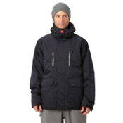 Quiksilver Piranha 5K Mens Shell Snowboard Jacket, Black, medium