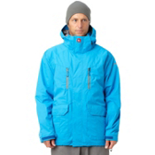 Quiksilver Piranha 5K Mens Shell Snowboard Jacket, Blue, medium
