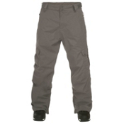 Quiksilver Impulse Shell Mens Snowboard Pants, Smoke, medium