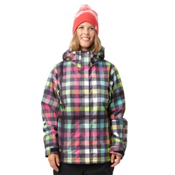 Roxy Jet Womens Insulated Snowboard Jacket, Multi Gingham, medium