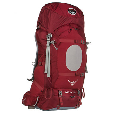Osprey Aether 70 Backpack, Arroyo Red, viewer