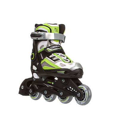 5th Element B2-100 Adjustable Kids Inline Skates, Black-Green, viewer