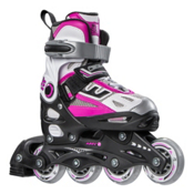5th Element G2-100 Adjustable Girls Inline Skates 2016, White-Pink, medium
