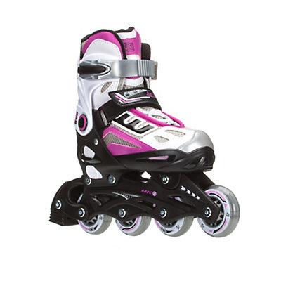 5th Element G2-100 Adjustable Girls Inline Skates 2016, White-Pink, viewer