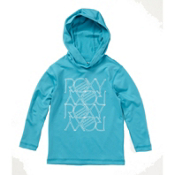 Roxy Sun Kissed LS Hooded Rash Guard, Turquoise, medium