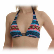 Hurley Mayan Stripe Halter Bathing Suit Top, , medium