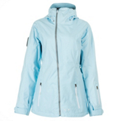 Oakley Moving Womens Shell Ski Jacket, Crystal Blue, medium