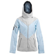 Oakley GB ECO Womens Shell Ski Jacket, Blue Crystal, medium