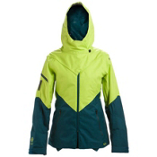 Oakley GB ECO Womens Shell Ski Jacket, Lightning Green, medium