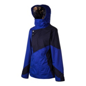 Oakley Permanente Womens Insulated Ski Jacket, Freedom Blue, medium