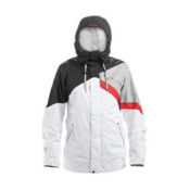 Oakley Ascertain Mens Shell Ski Jacket, White, medium