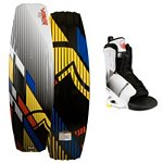 Liquid Force S4 Wakeboard With Liquid Force Transit Wakeboard Bindings 2013