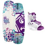 Liquid Force Star Kids Wakeboard With Liquid Force Star Girls Wakeboard Bindings 2013