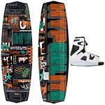 Hyperlite Clash Wakeboard With Hyperlite Team OT Wakeboard Bindings 2013
