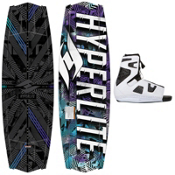 Hyperlite Tribute Wakeboard With Hyperlite Team OT Bindings 2013, , medium