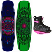 Ronix Quarter Til Midnight Womens Wakeboard With Ronix Halo Wakeboard Bindings 2013, , medium