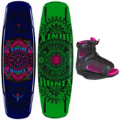 Ronix Quarter Til Midnight Wakeboard With Ronix Luxe Boot Womens Wakeboard Bindings 2013, , medium