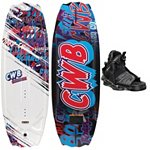 CWB Charger Kids Wakeboard With CWB Seven Kids Wakeboard Bindings 2013