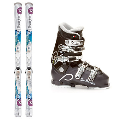 Rossignol Temptation 74 Womens Ski Package, , large