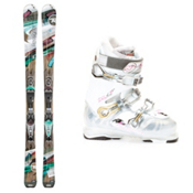 Rossignol Attraxion 8 Echo Womens Ski Package 2013, , medium